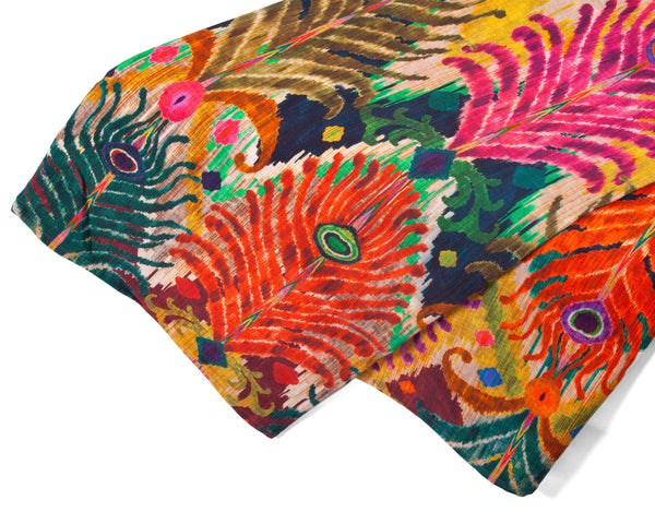 Peacock Table Cloth by Matthew Williamson | Les Ottomans