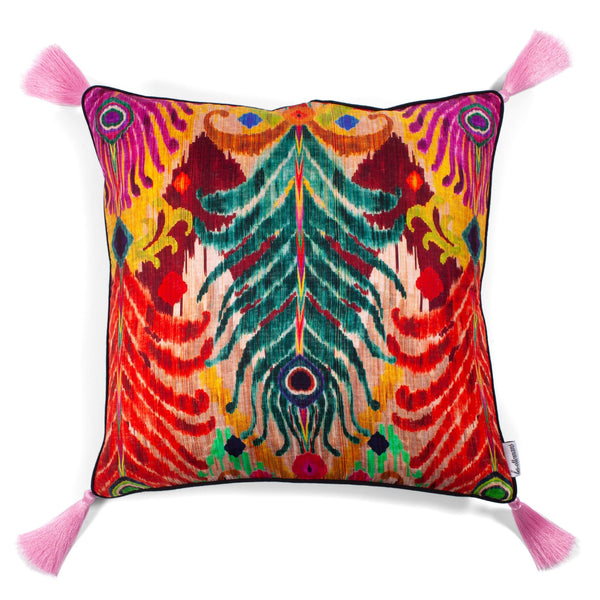 Peacock Cushion by Matthew Williamson | Les Ottomans