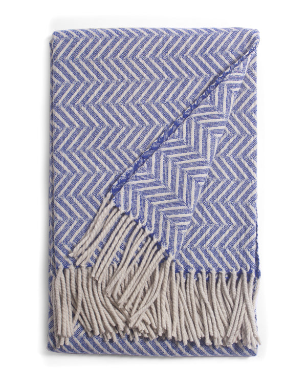 Visual Throw Blanket Blue | Burel Factory