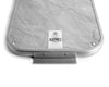 Kaymet Silver & Grey Marble Ribbed Tray