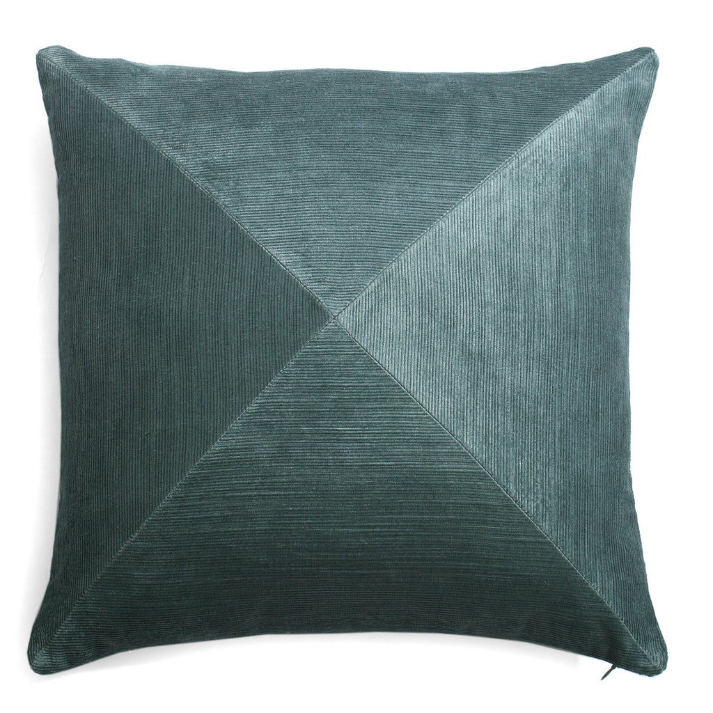 Ribbed Velvet Pillow Teal by Lo Decor