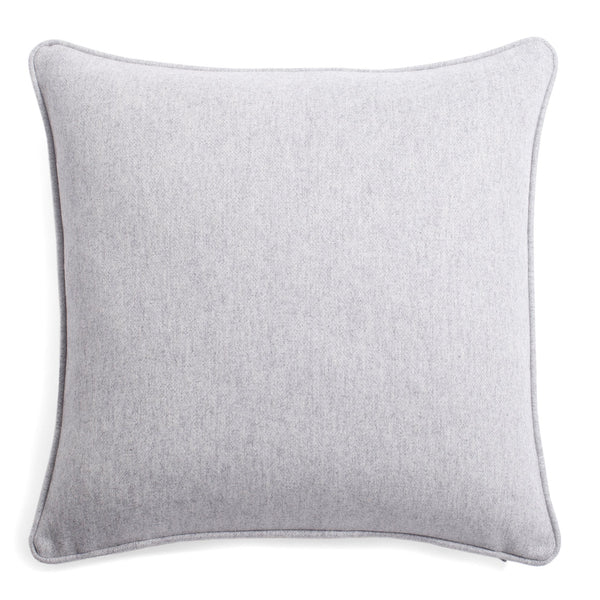 Light Grey Soft Wool Pillow by Lo Decor