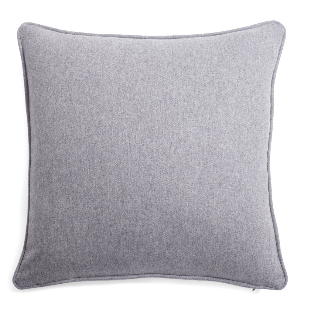 Grey Soft Wool Pillow by Lo Decor