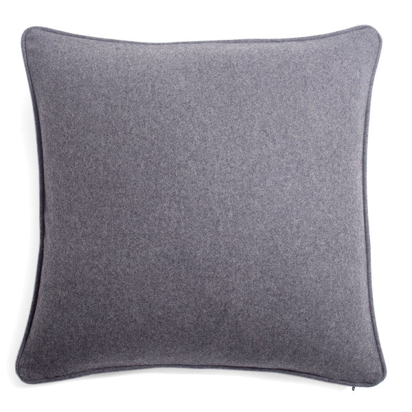 Medium Grey Soft Wool Pillow by Lo Decor