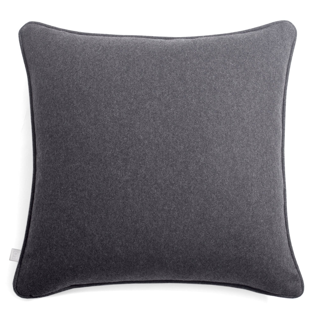 Dark Grey Soft Wool Pillow - Lo Decpr