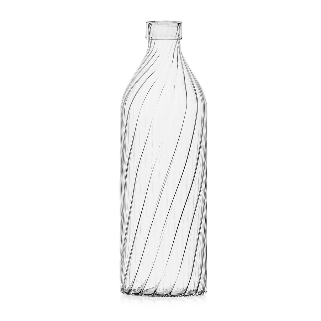 Venezia Ottico Glass Bottle with lid by Ichendorf