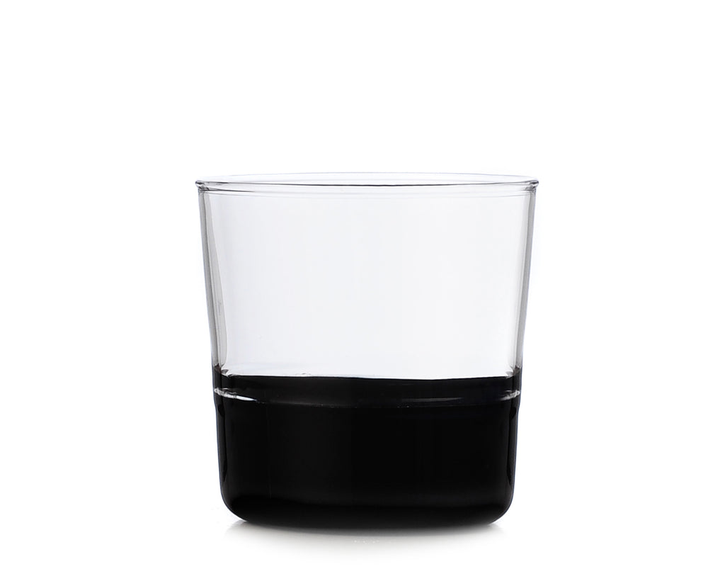 Colore Water Wine Tumbler Clear & Black | Ichendorf Milano