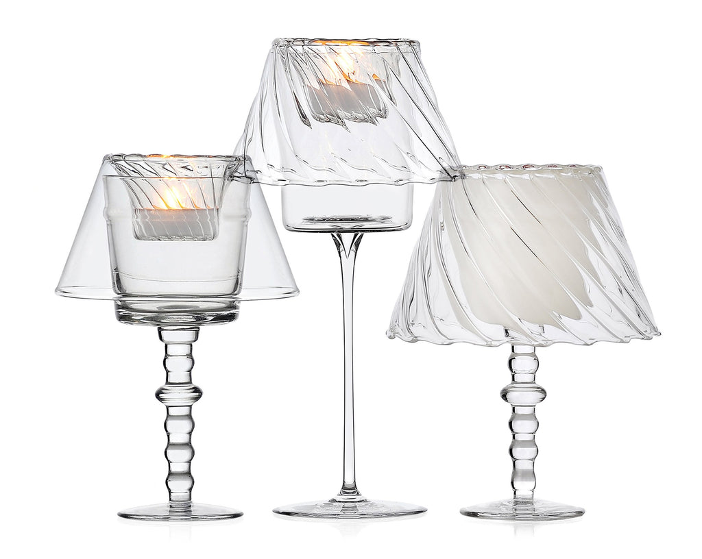 Greta glass tealight toppers | Ichendorf Milano