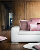 Wool & Velvet Cushion - Antique Pink