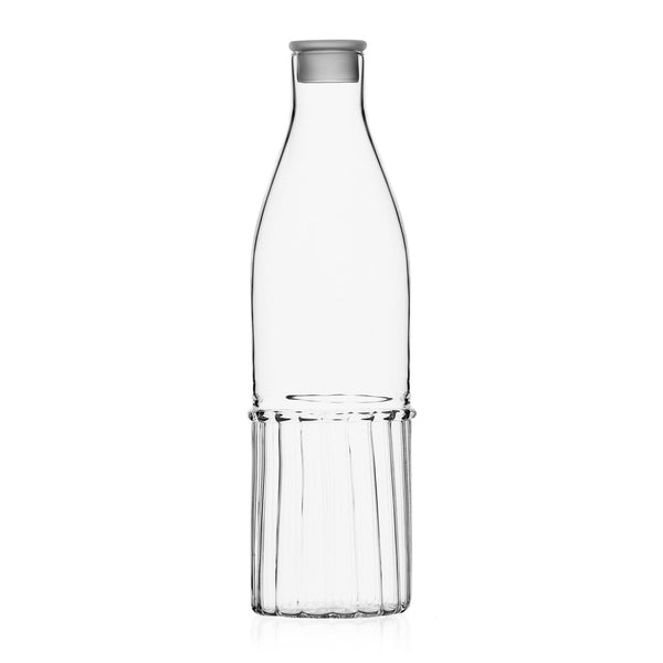 Transit glass jug with lid by Ichendorf