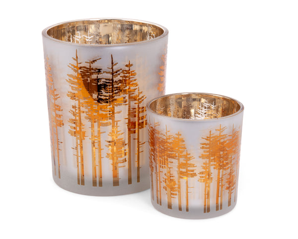 Golden Forest Tealights (2pc set)