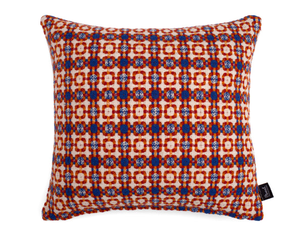 Vintage Cushion - Blue/Orange