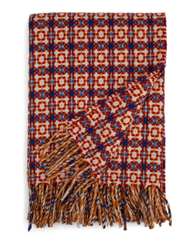 Vintage Throw - Blue/Orange