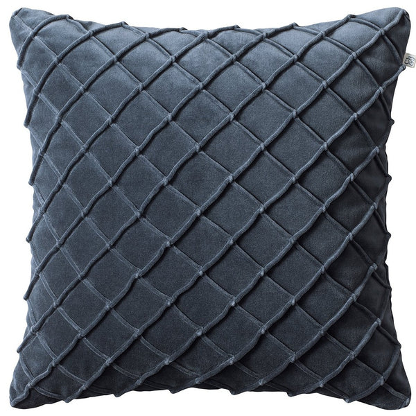Deva velvet pillow in sea blue