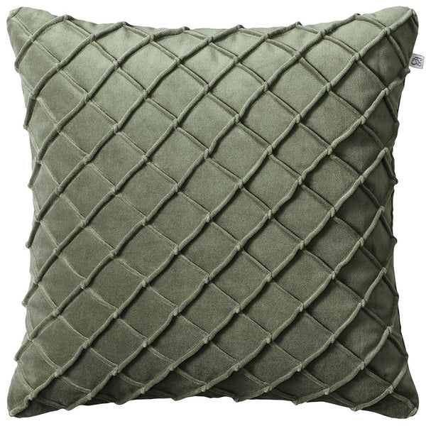 Deva velvet pillow in green - chhatwal