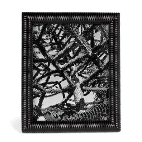 Black Mangowood Ribbed Photo Frame | JF Reborn