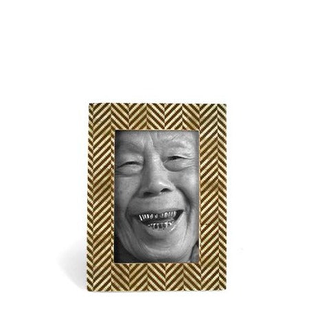 Herringbone Gold Photo Frame | JF Reborn