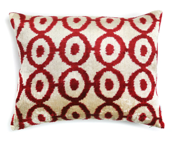 Silk Ikat Velvet Cushion | Les Ottomans