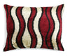 Waves Silk Velvet Pillow | Les Ottomans