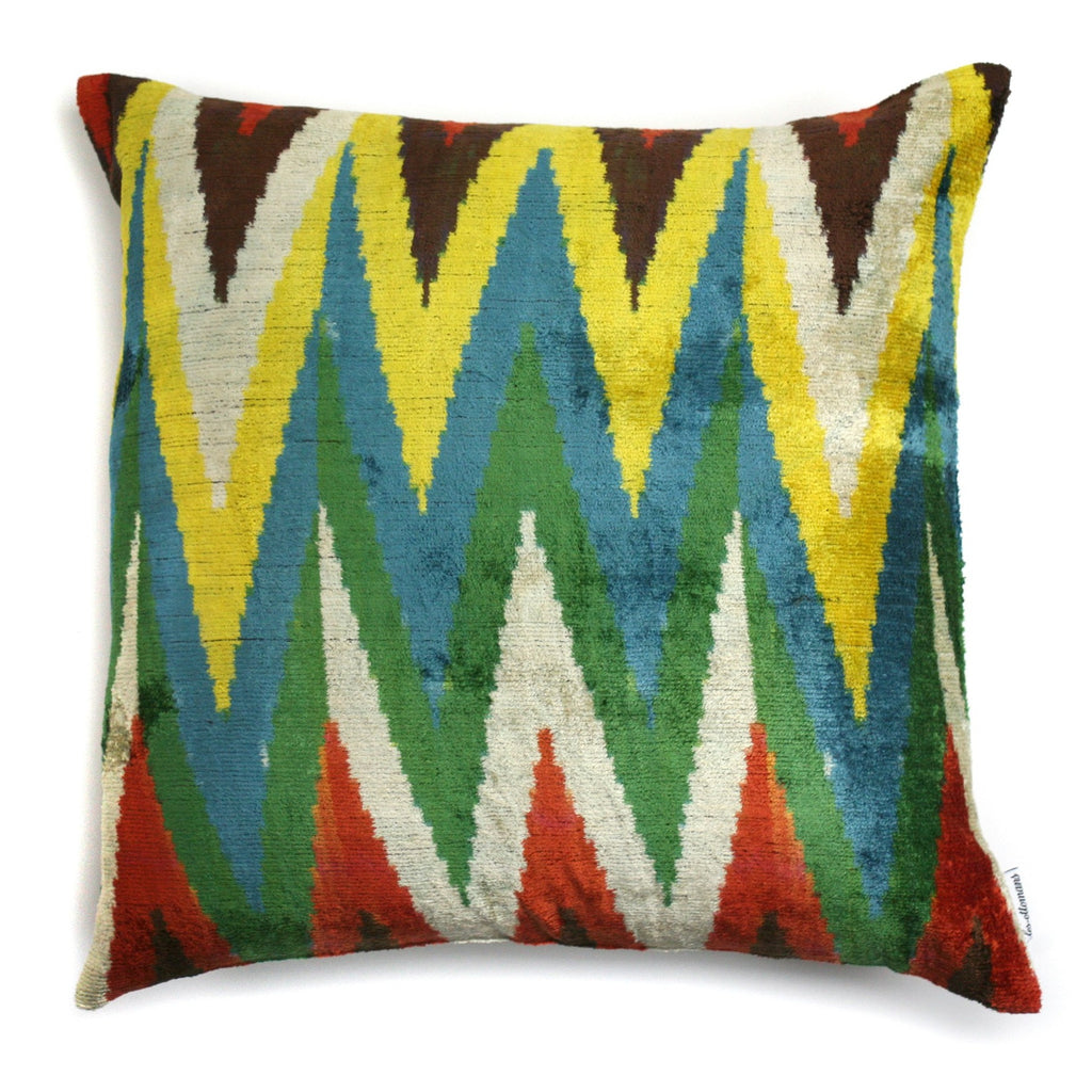Silk Velvet Zig Zag N. 042 Pillow | Les Ottomans