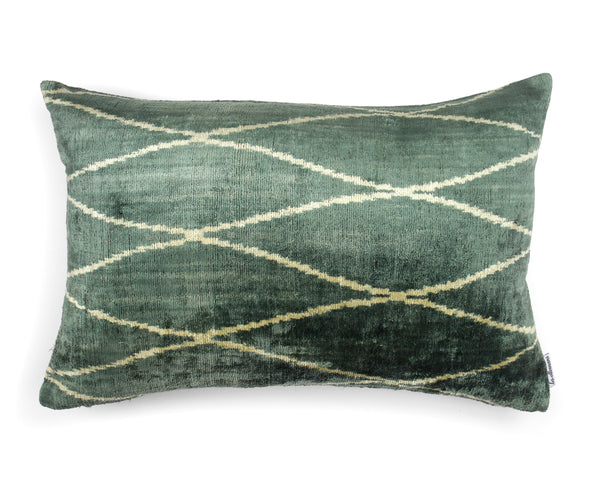Velvet Cushion N. 338 Blue Green | Les Ottomans