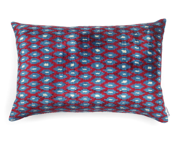 Velvet Cushion N. 359 Red Blue | Les Ottomans