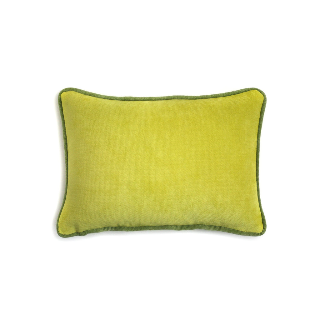 Velvet Cushion Acid Green | LO Decor
