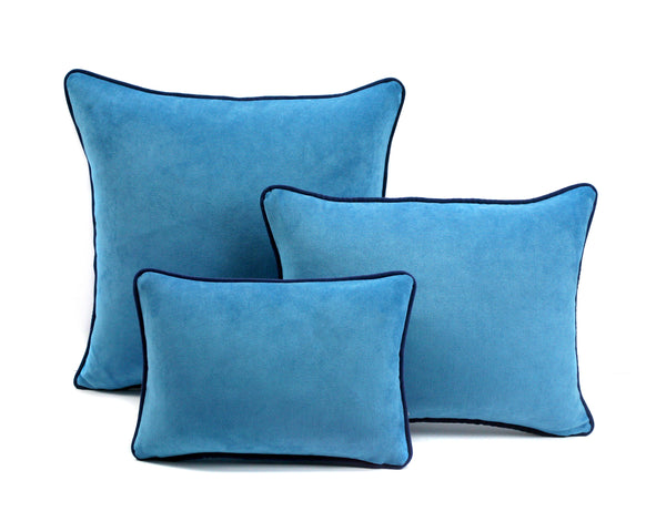 Sky Blue Velvet Cushion | LO Decor