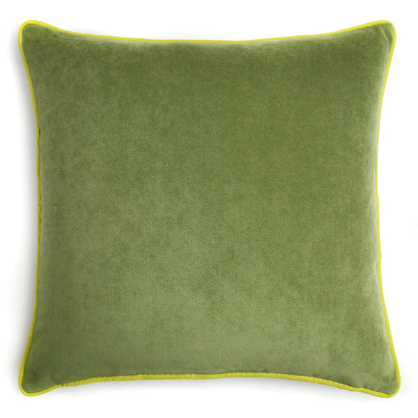 Pale Green Velvet Cushion | LO Decor