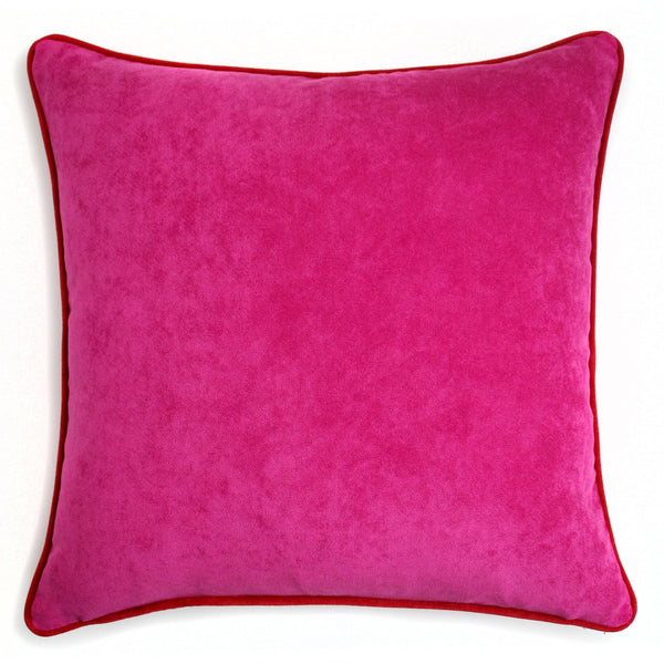 Velvet Pillow Fuscia & Red | LO Decor