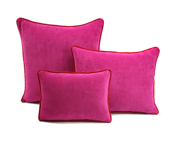 Velvet Cushions Fuscia & Red | LO Decor
