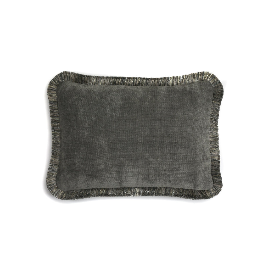 Happy Velvet Cushion Grey | LO Decor