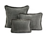 Happy Velvet Cushion - Medium Grey