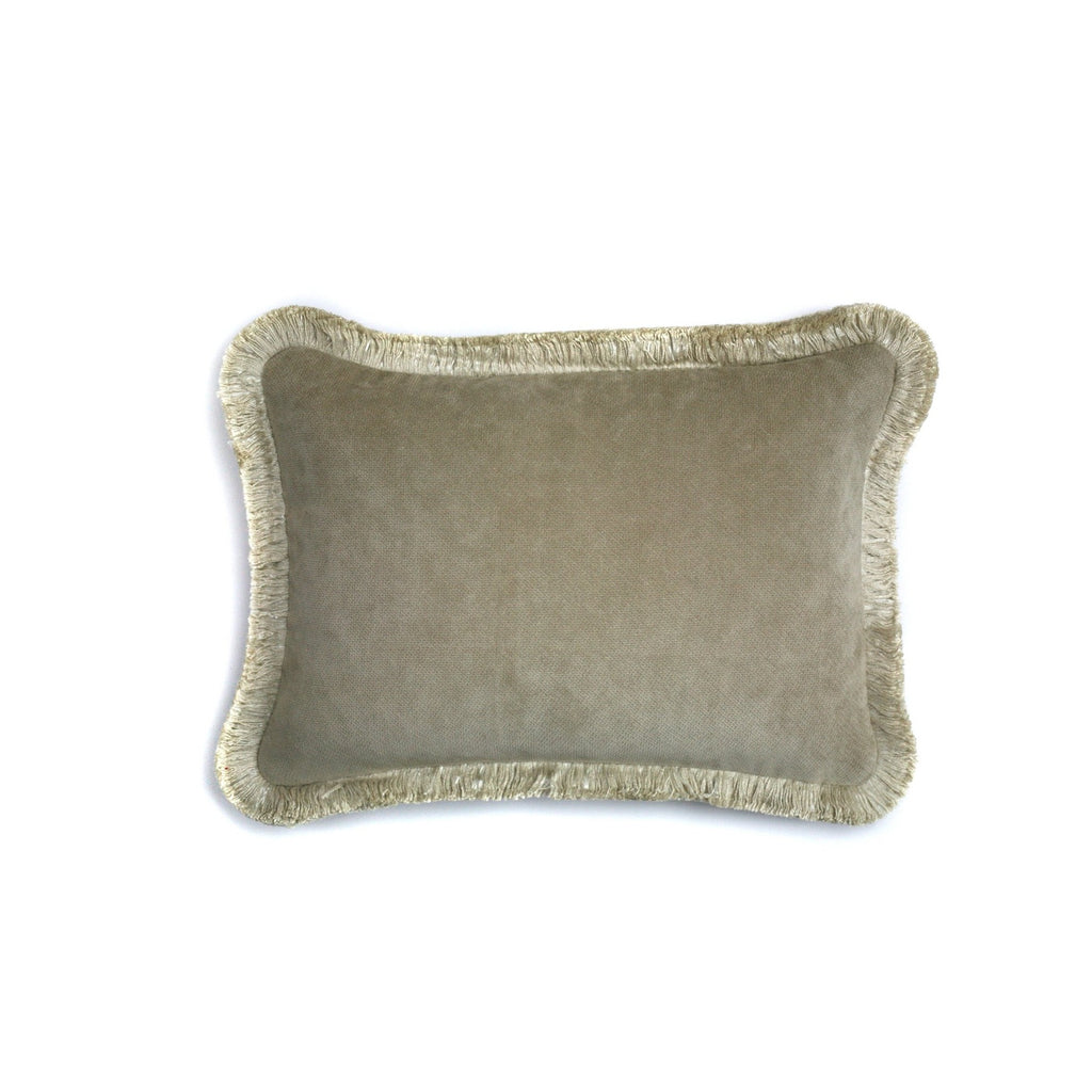 Happy Velvet Cushion Sand | LO Decor