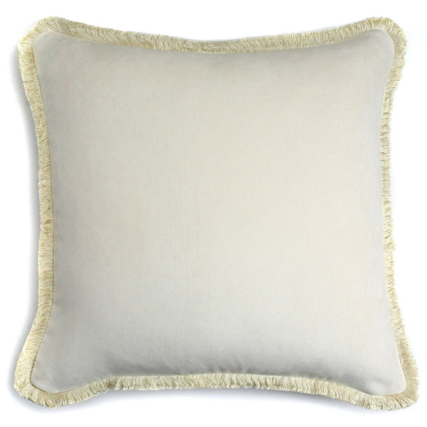 Happy Velvet Cushion Creme | LO Decor
