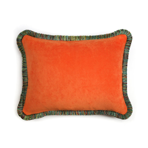 Happy Velvet Pillow Peru Orange