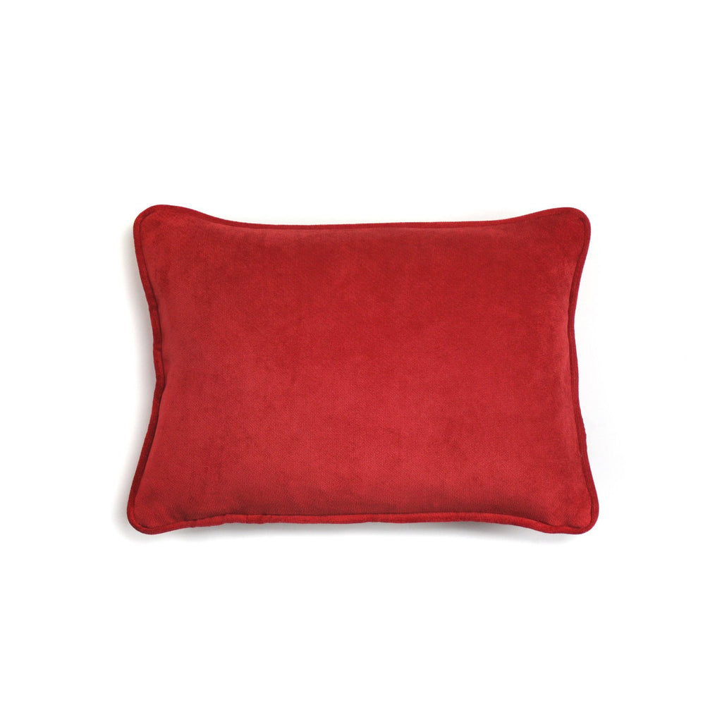 Red Velvet Pillow by LO Decor