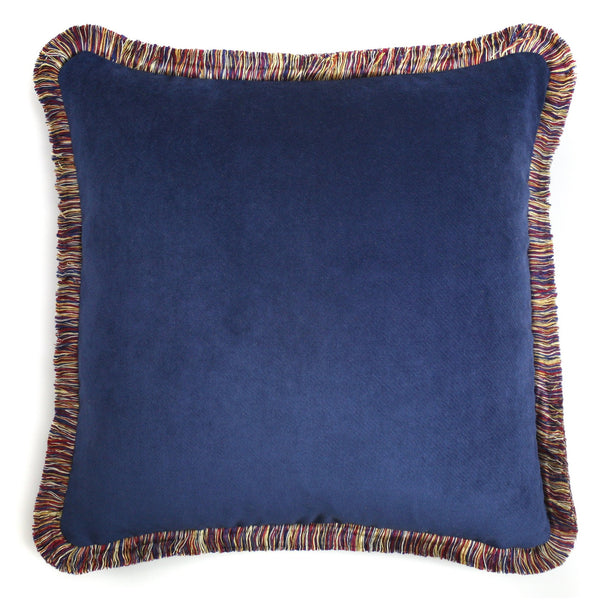 Happy Velvet Cushion Bright Navy | LO Decor