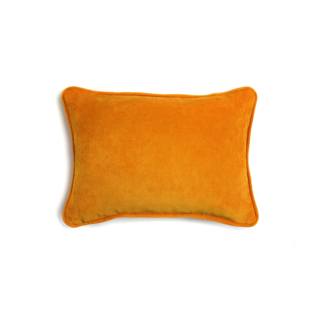 Orange Velvet Cushion | LO Decor