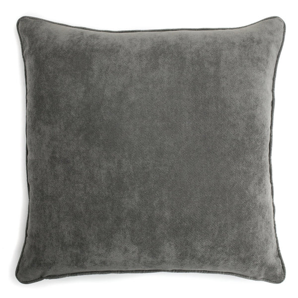 Velvet Cushion Medium Grey | LO Decor