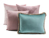 Velvet Rib Cushion - Antique Pink
