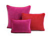 Frame Velvet Cushion Fuscia/Red | Lo Decor