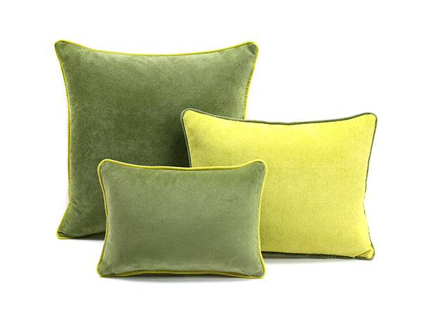 Frame Velvet Cushion Green | Lo Decor