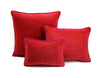 Frame Velvet Cushion Red/Fuscia | Lo Decor