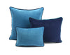 Velvet Cushion SkyBlue/Navy | Lo Decor