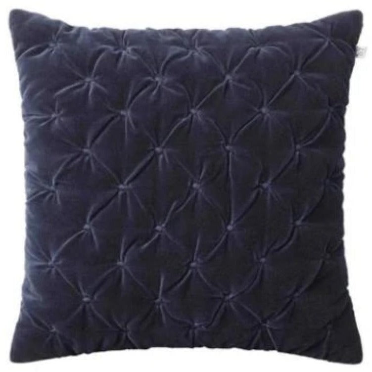 Mini dot velvet cushion navy blue by Chhatwal & Jonsson