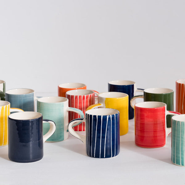 stripe espresso cups colorful / musango
