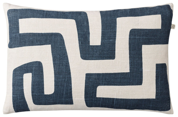 Chhatwal & Jonsson | Linen Nagra cushion navy blue