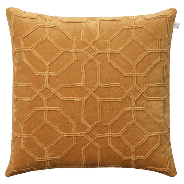 Nandi Velvet Cushion - Masala Yellow