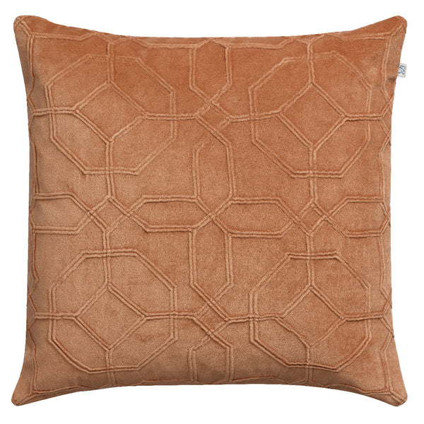 Nandi Velvet Cushion - Taupe